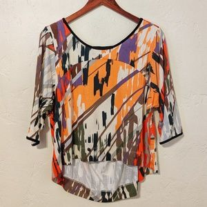 Anthroplogie Abstract Top
